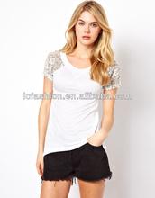 Fashion Embroidered Short Sleeve T-Shirt Design/dri fit shirts wholesale
