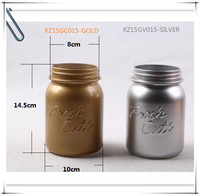 2015 Oct. new style gold/silver metal printed glass vase