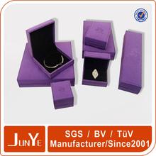 china directly factory OEM handmade fancy high end delicate logo printed packaging custom velvet jewelry box