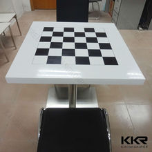 Solid stone table top / Luxury solid surface 48 inch round dining table