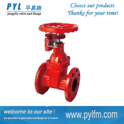 ductile iron non rising stem flange gate valve with signal