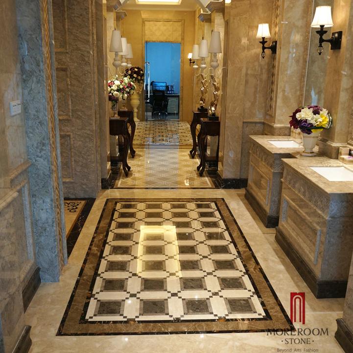 Spain Marble Tiles Price Polished Dark Emperador Marble