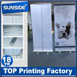 shop promotion display stand stable aluminum roller up banner -L1008