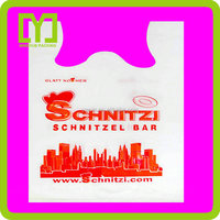 2015 Best Quality strong packaging cheap hot sales plastic t-shirt plastic bag