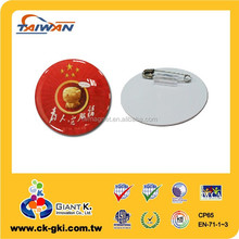 Lovely epoxy badge plastic safety pin badge