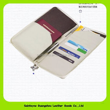 14027 Leather passport with credit card holder leather rfid travel organizer wallet for men