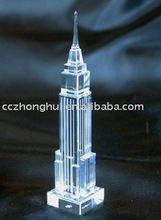 Pure K9 3D crystal mansion model crystal edifice model