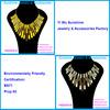 Sunshine statement necklaces women colorful enamel necklace