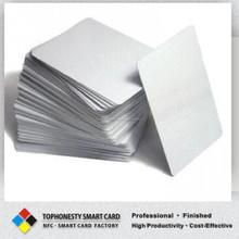 Blanco tarjeta del PVC blanco impresión de inyección de tinta CR80 30 millas de inyección de tinta para imprimir en blanco