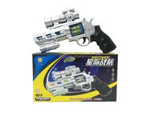 Plastic gun laser and sound gun toys for boys