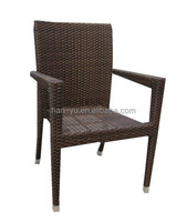 outdoor plastic furniture PE plastic wicker man made high quality chairs waterproof chairs
