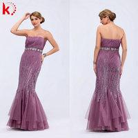 Distinctive Off shoulder prom dress mermaid style beaded 2014 new model evening dress