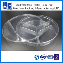 Eco-friendly portable transparent PVC box plastic Snack tray folding box packaging