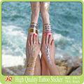 Água Printing Film tatuagem Design personalizado corpo ouro prata metálico Flash do tatuagem