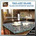 eclética texturizado balcão de vidro superior