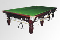 12ft Snooker Pool Table& HardWood Billiard Table& Carved Snooker Table Business Entertainment