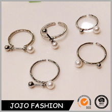 2015 fashion ring/ wholesale pearl jewelry ring set/ engagement ring/