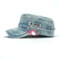 5 panel plain men's denim hats wholesale