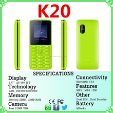Barato móvil GSM Dual sim del teléfono móvil del teléfono celular K20