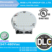 UL DLC listed led post top retrofit kit with 10 years warranty