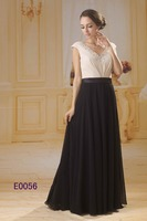 2016 guangzhou wholesale beaded chiffon black evening gowns/mother gowns dresses