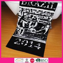 100% cotton print your own jacquard beach towel