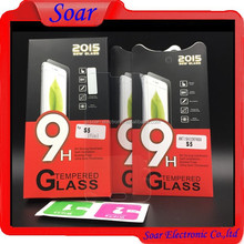 Mobile phone accessories 9H tempered glass screen protector for Samsung galaxy S5