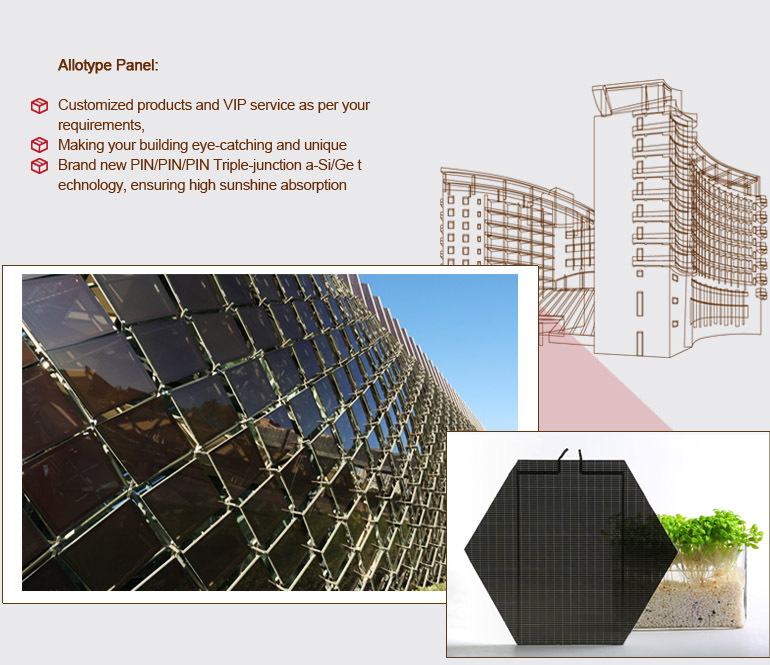 Curtain Wall Solar : Hanergy bipv office building with curtain wall allotype