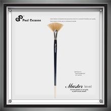 5Pcs Fan Shape Natural Animals Bristle Hair Artist Paint Brush Set