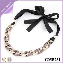 collares venta al por mayor collares de cadena y cinta de moda