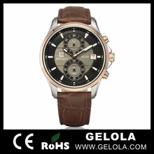 wholesale alibaba vogue chronograph leather geneva brand watches , cheap swiss watches automatic from brand watch china factory