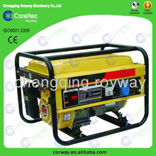 4 stroke air cooled single cylinder recoil/electric start 1kw gasoline engine generator