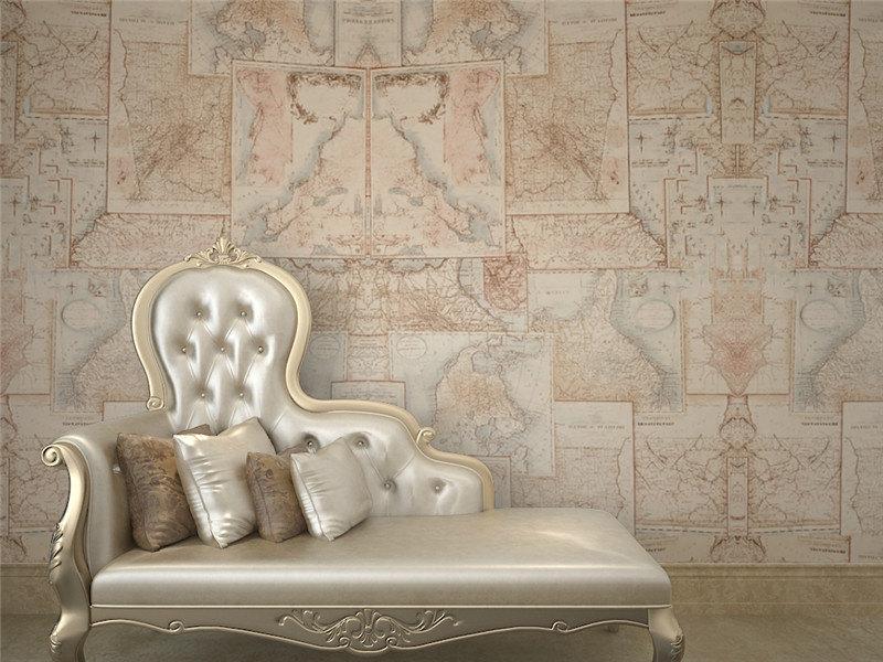 Nouveau produit 2015 d coration int rieure mur de papier for La maison du papier peint