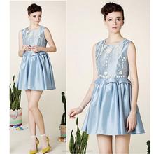 High quality Peplum sun dress for woman, sleeveless casual dress