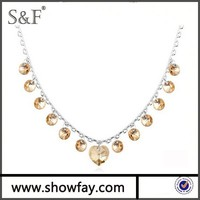 2015 New Chian Heart Necklace , High Quality Austrian Crystal Wholesale Jewelry