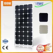 PWG 100w Sunpower Solar Panel Cheap Price Per Watt Factory Wholesale---HOT!!!