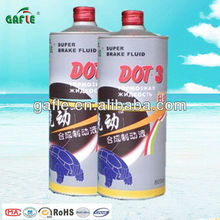 750ml tin can brake fluid oil dot3for car of U.S. FMVSS NO116