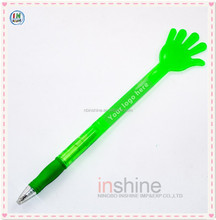 Hand shaped plastic twist advertising pen for promotion , Fancy long ballpoint pen , Shaped pen