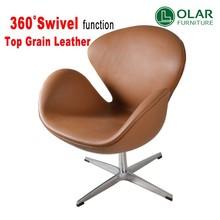 2015 hot modern classic swivel swan chair replica furniture inspired by Arne Jacobsen