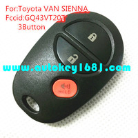 ms 3 button Replacement Keyless Entry Remote Cntrol Key 315mhz For Toyota Sienna Van GQ43VT20T