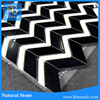 High quality mosaic pure black and white pattern weave marble tile