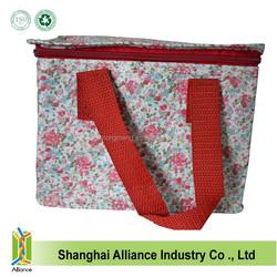 INSULATED LUNCH BAG - VINTAGE FLORAL - PICNIC COOLER TRAVEL TOTE WATERPROOF COOLER BAG