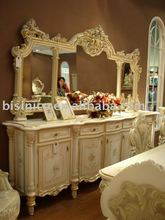 european style dresser and mirror, bedroom furniture, home furniture