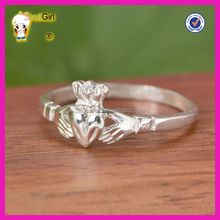 925 Sterling Silver Claddagh Ring Womens Wedding Band Engagement Ring Heart Shaped Irish Celtic Ring