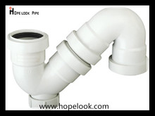 China Supplier PP silence drainage plastic pipe fitting 75mm S type adjustable trap