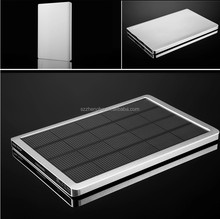 2015 Solar Panel 10000mah super slim power bank Metal Power Banks for loptop