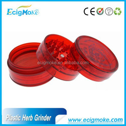 Ecigmoke 2015 China Goods Smoking Accessories Herb Grinder Plastic, Herb Tobacco Hand Crank, Hand Crank Herb Grinder