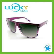 Flat top sun glasses imitations for woman silk print custom plastic wayfarer sunglasses