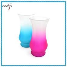 glass vase with foot antique blue glass vase