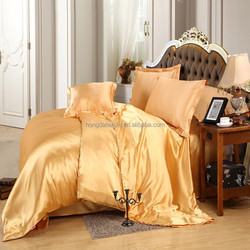 luxury 100% mulberry silk fabric bed sheets set
